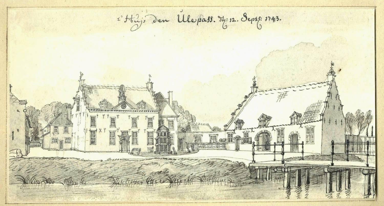 De Ulenpas in Voordrempt. Tekening Jan de Beijer, 1743
